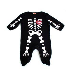 Halloween Baby Skeleton Romper Body Suit Costume